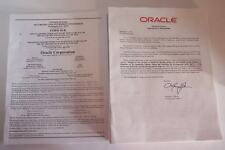 Oracle Corporation ORCL Stock Annual Meeting & 10K Reports 2010-2013