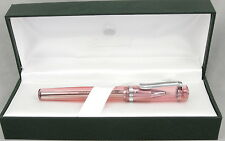 Monteverde Artista Crystal Transparent Pink Rollerball Pen - New - 50% Off