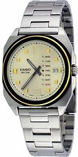 Casio MTF117BD-9A Men's Standard Stainless Steel Vintage Analog Gold Dial Watch
