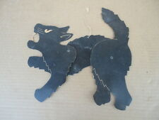 Vintage Halloween Die Cut Jointed Scary Black Cat Decoration
