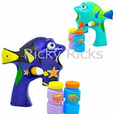LED Bubble Gun Dori Flashing Light Up Bubbles Blaster Squirt Blower