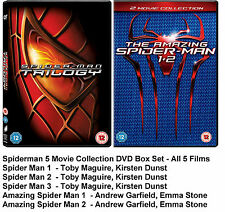 SPIDERMAN DVD COMPLETE MOVIE FILM 1 2 3 4 5 Toby Maguire AMAZING SPIDER-MAN NEW