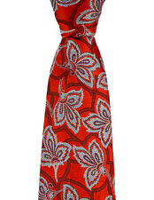 Mens ERMENEGILDO ZEGNA Jacquard Red Floral Woven 100% Silk Neck Tie NWT $250