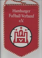 HAMBURGER FOOTBALL ASSOCIATION GERMANY ORIGINAL LARGE 1980'S PENNANT FAIR CON