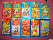 9 WINNIE THE POOH Videos VHS-- 3 Learning-- 3 Storybook-- 2 Playtime--1 Friend