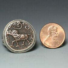 Mysore, India Coin Ring, Sterling Silver, Size10.5