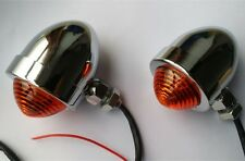 CHROME BULLET TURN SIGNALS FOR HARLEY SPORTSTER XL 883 ROAD KING FAT BOY DYNA