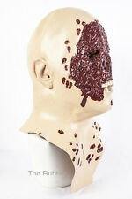 Face Torn Off Mask Latex Fancy Dress Halloween Horror Zombie Bloody Blood Scary