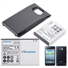 4800mah Extended Battery for Samsung Galaxy S2 i9100 + Black Battery Back Cover