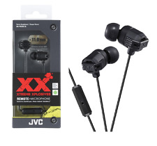 Genuine JVC Xtreme Xplosives Series Gold plated Headphones Earphone Black