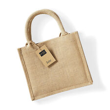 Westford Molino Yute Mini Bolsa De Regalo Damas bolso shopper Natural Bolso w412