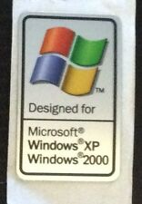 "4x ""progettato per Microsoft Windows XP/2000"" COMPUTER CASE BADGE Adesivi"