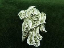very pretty vintage Owl brooch with rhinestones
