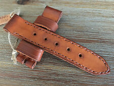 24mm leather watch strap .Handmade ,oiled ,calf  .Panerai,AMMO ,vintage style.