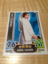 STAR WARS Force Awakens - Force Attax Trading Card #002 Princess Leia