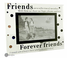 "Forever Friends Glass Picture Photo Frame 6""x4"" 3-269-46"