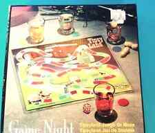 Drinking Game Tipsy Land Game Night with glass game board and four shot glasses