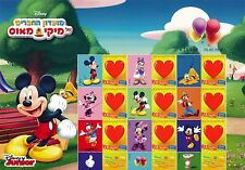 ISRAEL 2016 DISNEY MICKEY MOUSE FRIEND's CLUB  MY STAMP SHEET MNH