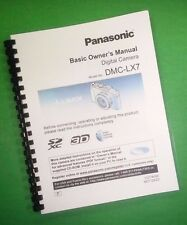 COLOR PRINTED Panasonic Basic DMC-LX7 Manual User Guide 36 Pages