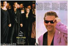Coupure de presse Clipping 1989 (2 pages) Mickey Rourke
