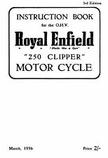 1956 Royal Enfield model 250 Clipper instruction book
