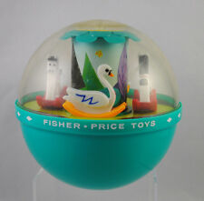 Fisher Price Roly Poly Chime Ball Vintage 1960s Rocking Swan Horse Musical