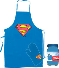 *NEW* Superman - Logo Apron and Oven Mitt Set in Cannister - 100% Cotton Apron