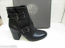 Vince Camuto Size 7.5 M Leather Black Ankle Boots New Womens Shoes