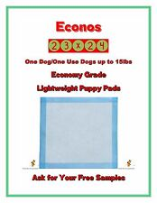 "200-23x24"" Economy Lightweight One Dog One Use Puppy Training Pads FREE SAMPLES"