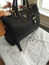 PRADA Vitello Daino / NEW BLACK Leather Satchel