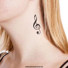 4 Violin Schlüssel Tattoo - Violinschlüssel - Notenschlüssel Tattoos