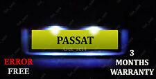 VW Passat 3B B5 3C B6 license number plate LED Light Bulbs, XENON WHITE