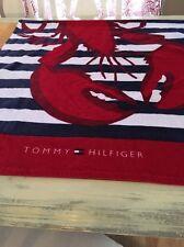TOMMY HILFIGER BEACH TOWEL LOBSTER STRIPED LOGO NWT