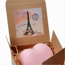 La LAVANDE HEART SHAPED SOAP PINK TEA ROSE FRENCH SOAP 3.5oz./100g GIFT BOXED