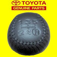 GENUINE TOYOTA SUPRA JZA70 CELICA MR-S LEATHER 5 SPEED GEAR SHIFT KNOB OEM