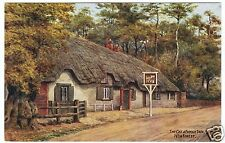 THE CAT & FIDDLE INN / NEW FOREST - A R Quinton #3226 -  c1940s era postcard