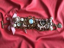 Betsey Johnson Vintage School of Dance Ballerina Cameo Ballet Slippers Bracelet