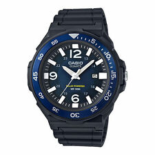 Casio MRWS310H-2BV, Solar Powered Analog Watch, Black Resin Band, Date
