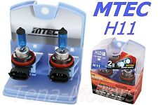2x MTEC H11 12V 100W Headlights Halogen Fog Bulb 4350k SUPER WHITE H.I.D CLASS
