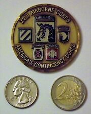 Challenge Coin: US Army, XVIII Airborne Corps, 3-Star Commanding General Ft Brag