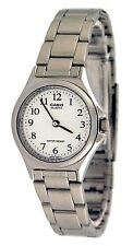 Casio LTP1130A-7B Ladies Stainless Steel Casual Dress Watch White Dial NEW