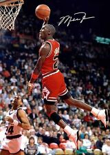 Michael Jordan Basketball in your face Signed Autograph Signature A4 Poster 3