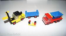 LEGO® 450 435 Fork Lift + Tipper Truck 70 er City Eisenbahn Fahrzeuge #6043