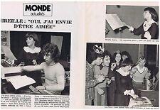 COUPURE DE PRESSE CLIPPING 1975 MIREILLE MATHIEU oui,j ai envie d'être aimée 2p