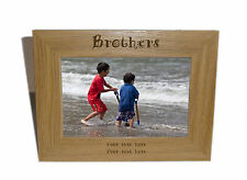 Brothers Wooden Photo Frame 8x6 - Personalise this frame - Free Engraving