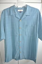 Tommy Bahama  Mens Large  Woven Stripes on Blue Silk/Nice
