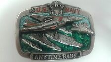 U.S. Navy Anytime Baby Metal Belt Great American Buckle Company Military Casual