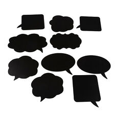 Wedding Party 10Pcs Photo Booth Props DIY Bubble Speech Chalk Board Photobooth