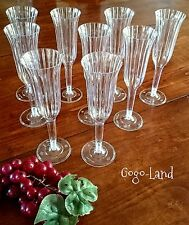 12 Plastic Clear Champagne Cups Flutes Wedding Sweet 16 Celebration Party Favors