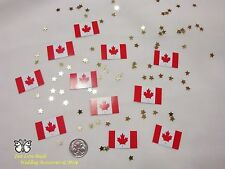Wedding Table Scatters Confetti Flags - Canada